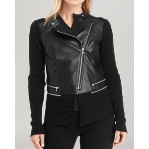 Kenneth Cole Reilly Moto Faux Leather NWT $198